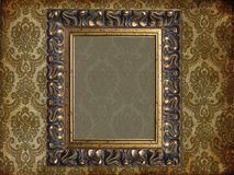 Art frame on pattern paper. Card Royalty Free Stock Photos