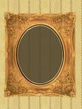 Art frame on wallpaper. Art frame on pattern paper Stock Photography