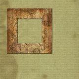 Art framework  with wooden texture Royalty Free Stock Photos