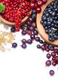 Art fresh berries white background stock photography