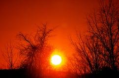 Art froid dans le ciel un jour d'hiver dans le NH Images libres de droits