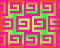 art fuchsia greeks green neon op απεικόνιση αποθεμάτων