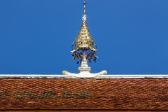 Art of gable apex in thai Temple Stock Images