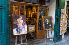 Art gallerie. Typically french art gallerie exterior in montmartre, paris Stock Image