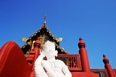 Art galleries. Giant statue front of art galleries,tourist temple northern inThailand Royalty Free Stock Images