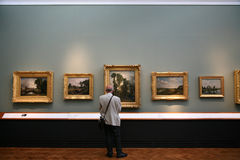 Art Gallery. The oil painting collection at the Victoria and Albert Museum in London has a fine collection of the colorful, illustrative art that was favored by