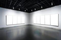 Art gallery. Blank Art gallery in museum Royalty Free Stock Photo