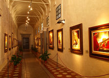Art gallery. Famous art gallery with religious paintings in Assisi St.Francis' city, Italy Stock Images