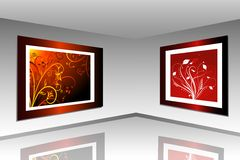 Art gallery. Digitally created inside of an art gallery Stock Photo
