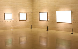 Art gallery. A row from empty pictures Royalty Free Stock Images