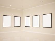 Art gallery, 3d illustrastion Stock Photos