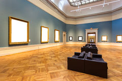 Art gallery. All pictures on wall is blank Stock Photo