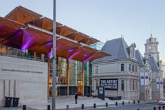 Art gallery in Auckland. AUCKLAND, NEW ZEALAND - JUNE 08, 2015: Auckland Art Gallery Toi O Tamaki Royalty Free Stock Images