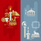 Art gallery banners antique museum exhibition Royalty Free Stock Images