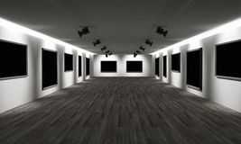 Art gallery. 3d high quality render Stock Images