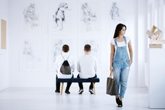 Art Gallery Exhibition stock foto's