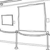 Art Gallery Frames Outline Photos stock