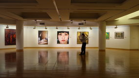 Art gallery hall royalty free stock photo