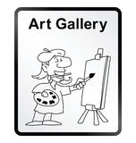 Art Gallery Information Sign Stock Photos