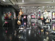 Art gallery. Interior of a modern art gallery Stock Images