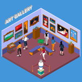 Art Gallery Isometric Illustration illustration de vecteur
