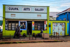 Art Gallery. Jinja, Uganda - September 2015 - Cuupa Arts Gallery on main street Jinja. The gallery, which is one of the biggest in the district, is still Stock Images