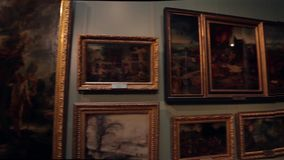 Art Gallery. stock footage