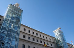 Art gallery Madrid. Exterior of the Reina Sofia gallery in the Spanish capital Stock Images
