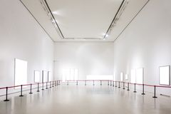 Art Gallery Museum Blank Frame Exhibition White Clipping Path Is stock image