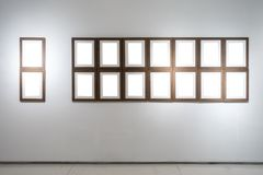 Art Gallery Museum Blank Frame Exhibition White Clipping Path Is royalty free stock photo
