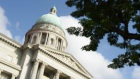 Art Gallery nacional con los cielos azules almacen de video