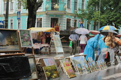 Art Gallery in the open air Stock Photos