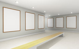 Art Gallery perspective two point and Picture Frame wall monocom Stock Images