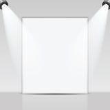 Art gallery  and spotlights Royalty Free Stock Photo