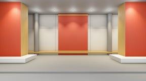 Art Gallery Studio und Ausstellung arbeitet an kreativer Anzeige der Wand Lizenzfreies Stockfoto