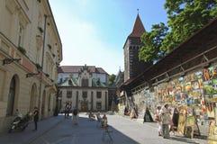 Art Gallery under Florian Gate Stock Photos