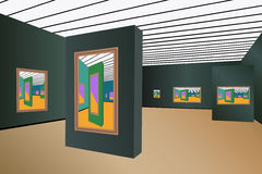 Art gallery vector Royalty Free Stock Photography