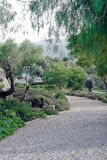 Art garden gravel path Royalty Free Stock Image