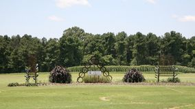 Art Garden at the West Tennessee Agricultural Research Center Royalty Free Stock Images
