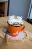 Art gentil du latte 3D image stock