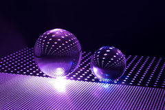 Art glass ball. Crystal background texture light shade abstract perforated sheet  colors pattern reflection Stock Photo
