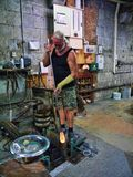 The Art Glass Factory in the main town on the Rock of Gibraltar. Gibraltar is a British overseas territory located near the southernmost tip of the Iberian Stock Images
