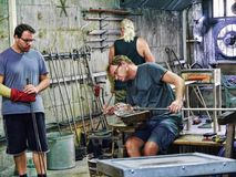 The Art Glass Factory in the main town on the Rock of Gibraltar. Gibraltar is a British overseas territory located near the southernmost tip of the Iberian Stock Photo