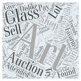 Art glass paperweights word cloud concept  background Stock Image
