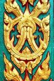 Art Gold Pattern antigo tailandês fotografia de stock