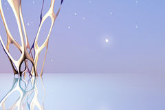 Art golden abstract futuristic background Stock Image