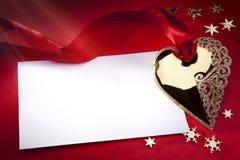 Art Golden Heart stock photos