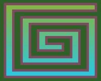 art gradient greeks green op purple διανυσματική απεικόνιση
