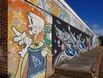 Graffiti or art. Art or graffiti in New Milton Hampshire Stock Photo