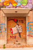 Art graffiti in 798 street,Beijing on 25 May 2013 Stock Photo